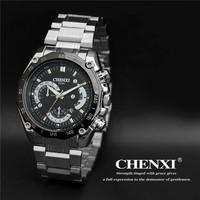 Quality Men's full steel Watches Analog Wristwatch Stainless Steel Strap Calendar Business Luxury Brand Watch Quartz watch