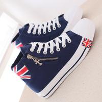 High fashion 2015 women's shoes canvas shoes zipper cotton-made shoes casual shoes flat