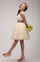 2015 new short one shoulder homecoming dress beading paillette bling dress champagne Graduation Dresses