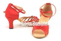Women wear satin soft bottom Latin dance shoes,salsa shoes,dancing shoes for girls,practise latin dance shoes,zapatos de baile