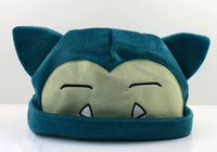 EMS 100pcs Pokemon Snorlax Plush Beanies Cosplay Hats 20cm For Adult Christmas Gift