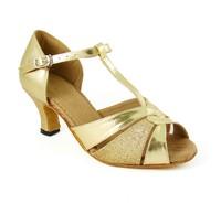Children gold color elegant Latin dance shoes girl's Ballroom dancing shoes practise Salsa dance shoes,zapatos de baile
