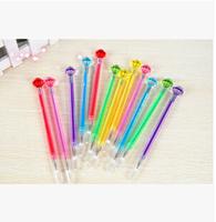 Beauty 240pcs/lot Black Refill Love of Crystal Gel Pen Diamond Head Gel Ink Pen Stationery Office/School Supplies #GP374