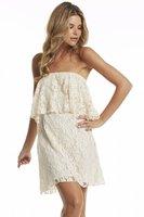 2015 Women Summer Lace Dress Slash neck Off the Shoulder White Lace Flower Casual Dresses Office Party Vestidos