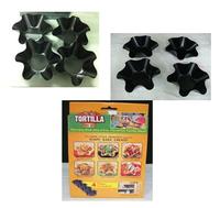 4 PCS/Lot PERFECT TORTILLA Baking Mold Pan Set As Seen on TV NEW Taco Bowl