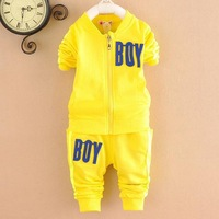 Retail-Baby boys spring&autumn long sleeve cotton sweater suit set