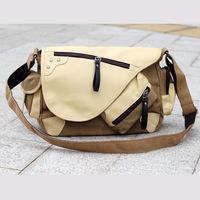 2015 New Fashion sytle men messenger bags quality canvas men handbags multi pocket shoulder bags