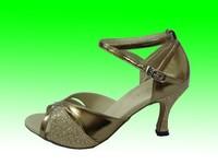 Promotion gold PU Women's Classic Tango Ballroom Latin Dance Shoes Girls Dancing Salsa Tango bule dancing shoes,zapatos de baile