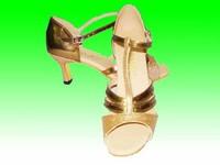 ON SALE elegant women's Latin dance shoes In Stock 8cm heel gold colour Retail & Wholesale dance shoes,zapatos de baile