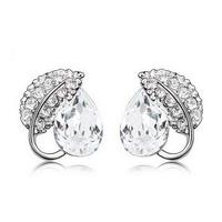 2015 Earings Fashion Jewelry Famous Brand Austrian Crystal Earring Silver Plated Stud Earrings For Women Bijoux