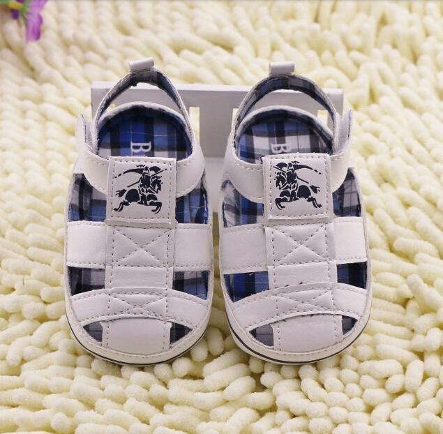 new non-slip soft bottom infant baby toddler sandals white free shipping(China (Mainland))