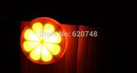 2pcs/pack light control sensor orange shape night lights, light-operated, only need 1 kilowatt 1 year, free shipping