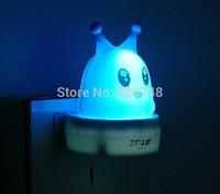 2pcs/pack LED-412 light control sensor snail shape night lights, light-operated, 1 kilowatt 1 year, free shipping