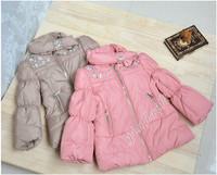 Hot sale!Brand children's clothing Baby girls wadded jacket female child winter clothing cotton-padded jacket baby cardigan