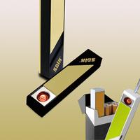 New 1pcs Mini Electronic Cigarette Lighter USB Electronic Lighter Power Battery Cigarette Cigar Flameless Portable Lady's h227