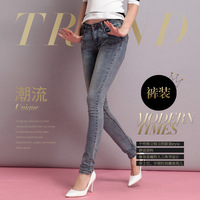 Promotion New Arrival 2014 jeans zipper tight skinny pencil pants for women woman girls