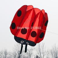 Free Shipping!!hot sale 1.4mx1.3m Ladybird  single Line Stunt POWER Sport Kite