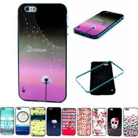 TPU+PC  cartoon case for iphone6 plus soft back cover for iphone 6 5.5 inch protective shell 2 in 1 mobile phone cases