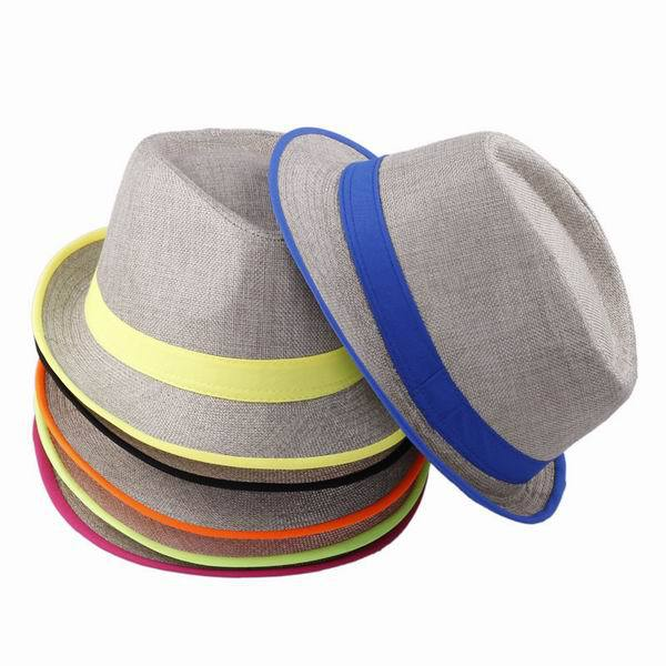 product British Style Panama Hat Spring Summer Sun Beach Hats For Women Men Linen Material Multi-Color Pick Free Shipping