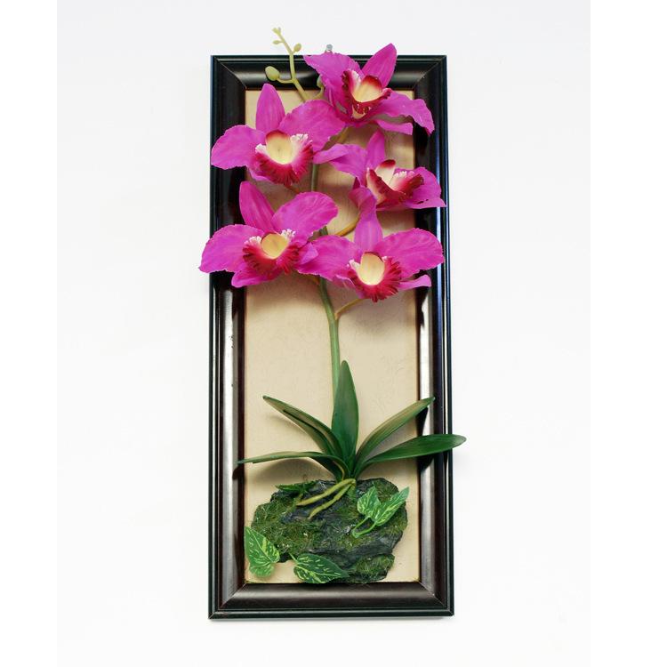 simulation Thai Orchid Cymbidium flower wall frames handmade home decor artificial plants(China (Mainland))