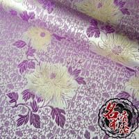 Chinese cheongsam dress doll clothes kimono COS Senior purple brocade fabric bottom chrysanthemum