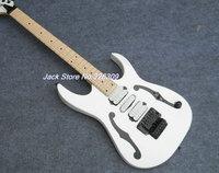 f hole white 7v guitars maple fretboard three Active pickups guitars China 7v electric guitars