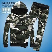 Mens Sport Suit Jogging Suit Men Military Hooded Jacket Spring Sport Jacket Camouflage Hoodies Fashion Tracksuits