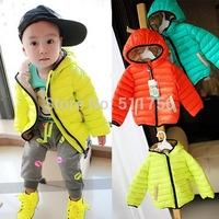 2015 children outerwear cotton winter Hooded coats baby boys Jacket Kids Coat children's winter clothing Girls Down & Parkas