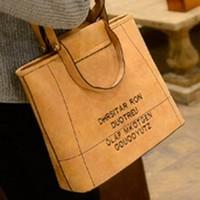 2015 new fashion handbags Korean alphabet retro handbag shoulder messenger bag matte casual handbag Free shipping