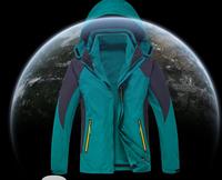 Softshell Men Women Couple Jacket 3 In 1 Jacket Fleece Jacket Hooded Clothing Hunting Waterproof Windproof Mountaineering Jacket