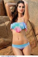 Hot  Summer Women Swimwear swimsuit Sexy Colorful Tassel Push-up Bikini bathing suit franja biquini female