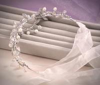 Rhinestone Wedding Headband Crystal Hairband Head Chain Hair Jewelry Bridal Tiaras Tiara Noiva Bride Headpiece WIGO0411