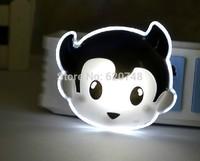2pcs/pack LED-401 on-off cartoon night lights, LED energy saving, switchable, 0.3W, free shipping