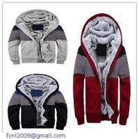 Free Shipping Winter Sudaderas Element Grey/Red/Blck Warm Fleece-lined Hoodie Mens Fashion Brand Sweatshirts Hoodies LC11006
