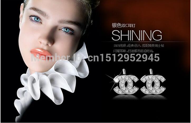 Chanel Double c Stud Earrings Chanel Double c Earrings
