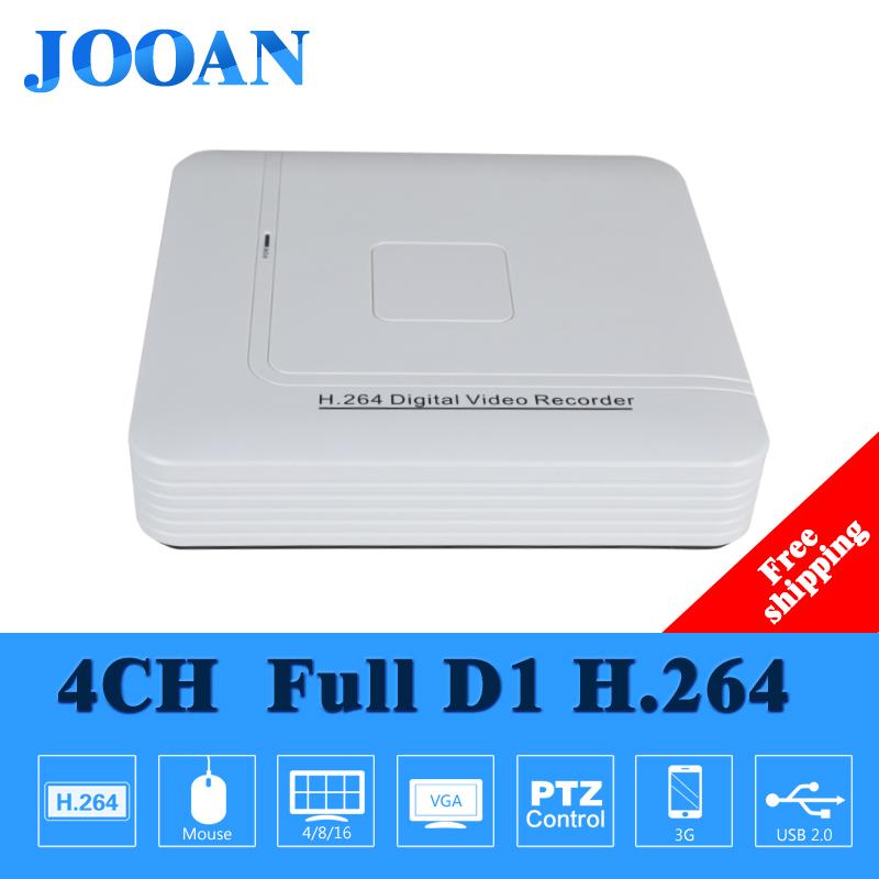 JOOAN mini 4ch CCTV DVR security System hd h.264 full d1 hdmi ptz network home surveillance video recorder dvr White(China (Mainland))