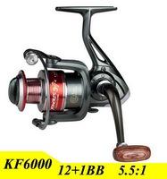 2015 New 13BB Gapless Fishing Reel 6000 Series Carretilha Pesca Spinning Wheel For Shimano Fishing Free Shipping
