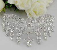 Princess Crown Rhinestone Tiara Noiva Bridal Tiaras And Crowns Wedding Bride Headpiece Crystal Hair Jewelry Diadema WIGO0415