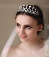 Princess Crown Rhinestone Tiara Noiva Bridal Tiaras And Crowns Wedding Bride Headpiece Crystal Hair Jewelry Diadema WIGO0412