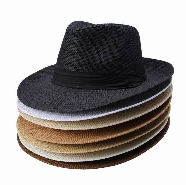 Wide Brim Straw Cowboy Hats For Men