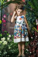 Hot Sale 2015 Summer Brand Kids dress Girl Dress Butterfly Print Children Dress Children Clothes Baby girls Princess dress