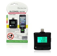 iPega LCD Digital Alcohol Breath Tester Meter Analyzer Portable Breathalyzer with Alert for iPhone 6 6 Plus 5 5S iPad 4 iPod
