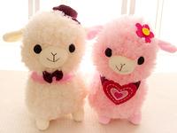 Gift for baby 1pc 40cm romantic cartoon sweet couple sheep alpaca plush doll hold pillow novelty creative stuffed toy