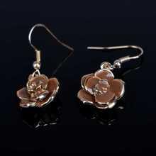 2015 Fashion Earrings for Women Gold Plated Rhinestone Crystal Eardrop Hook Stud Earrings Ear Brincos Jewelry
