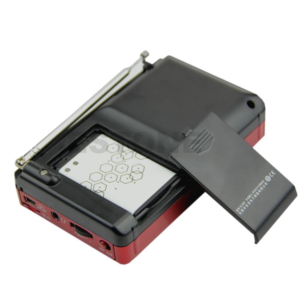 Mini Radio Portable Audio Woofer Speaker Music Player Receiver LCD Screen FM