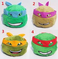 60pcs EMS New Teenage Mutant Ninja Turtles TMNT Children Plush Caps Cosplay Hat Plush Beanies Wholesale