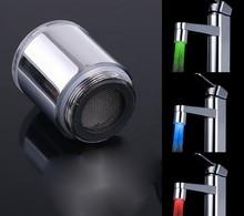 Led sensore di temperatura rubinetto della cucina led tap luce no acqua batteria rubinetto glow doccia vite sinistra prezzo all'ingrosso  (China (Mainland))