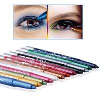 2015 New makeup tool   Glitter Lip liner Eye Liner Eyeliner Pencil Pen Cosmetic Makeup Set  12 Color # M01189