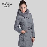 Winter rex rabbit hair medium-long slim thickening yrf down coat female xa-225