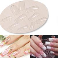 Fashion 500pcs Nail Art Clear Half Well False Acrylic Nail Tips For UV Gel Decoration # M01214